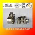 de alta presión de aceroinoxidable tubo de la manguera abrazaderas