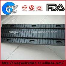 Elastomeric rubber bridge expansion joint in concrete