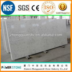 Carrara White Artificial Marble Quartz Stone
