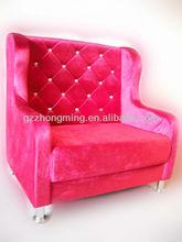 elegant pink modern design waiting sofa salon furniture sofa F-015