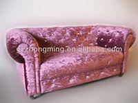 luxury purple modern design beauty salon sofa waiting sofa F-016