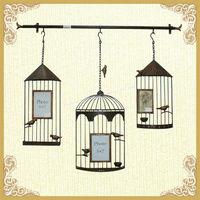 Hot sale birdcage shape design wall hanging photo frame