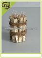 material natural artesanato castiçal de vidro com casca de bétula