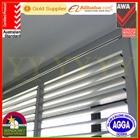 Aluminium Sun Louver Window with Australian standard 2047,adjustable blade Manual operation sliding type