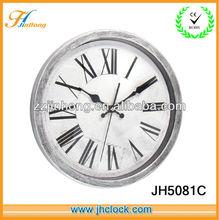 Rome light grey plastic wall clock for decoration
