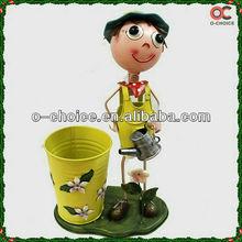 New Cartoon Figure Metal Handicraft Flowerpot