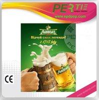 portable el advertising poster display for beverage rack indoor e-paper advertisement product for shelf talker