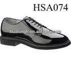 high-shine lightweight Bates US navy uniform military shoes black