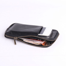 100% Soft Leather Cell Phone Pouch/wallet case