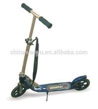 Luxury aluminum foldable 205 mm PU wheels push scooter