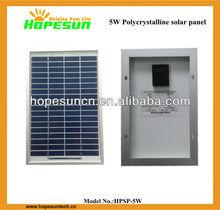 cheapest Polycrystalline pv module 5W solar panel price list