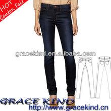 2014 Cheapest Denim Women's Garment Factory Skinny Jeans (GK042423)