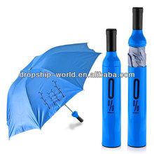 portable wine bottle style tube Umbrella dropship