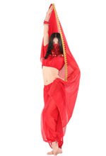 SWEGAL Wholesale red belly dance sexy lantern costume dance dress wear,india belly dance costume set SGBDT13100