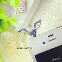free shipping Angel wings phone dust plug (CYY-061)