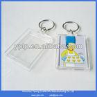 2014 Custom Blank Rectangle Shape Acrylic Photo Key Holder