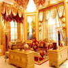 2015 luxury curtain design with fancy valance