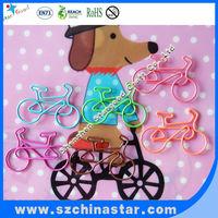 Colorfull cute motor van paper clips