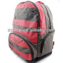Beautiful flower printed girls backpack for school