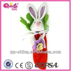 Funny bunny felt Easter bag