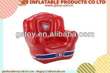 PVC inflatable comfortable single red inflatable sofa EN71 approved