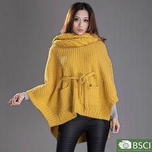 latest sweater designs for girls New fashion design shrug cape women sweater