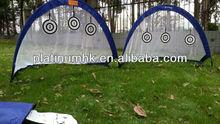 Pop Up Goals - 4ft, Blue, fibraglass frame Collapsible