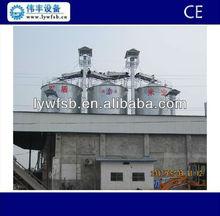 Hot Galvanized Hopper Bottom and Flat Bottom grain storage steel silos