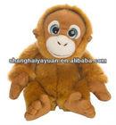 Funny brown plush monkey stuffed toy