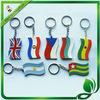 soft pvc flag key chains