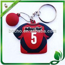 T-shirt shaped soft rubber key ring