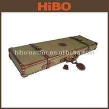 Canvas and genuine leather shotgun case