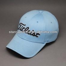 CUSTOM DESIGN 3D EMBROIDERY 6 PANEL BLUE GOLF HATS
