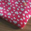 Heart Pattern 100% Polyester Printed Warp Knitting Soft Velboa Fabric
