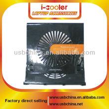 HOT SALE! Black Adjustable USB laptop cooler pad