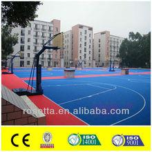 pp/pvc plastic interlocking floating sports basketball flooring