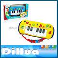 bebé de plástico de juguete musical de órgano electrónico