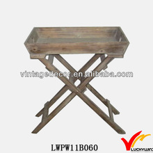 Reclaimed Barn Tray Top Cross Leg Antique FSC Wood Table