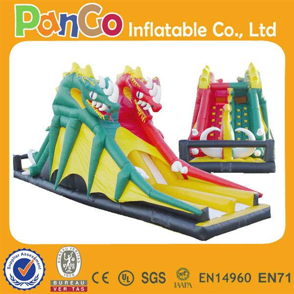 2013 latest design! Inflatable giant dragon bouncer slide EN14960 EN71