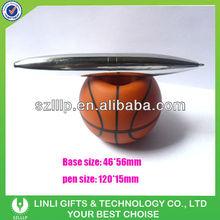 Plastic Basket Ball Base Desktop Pen