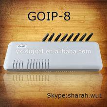 PORT GSM Voip Gateway 8 ports voice communications