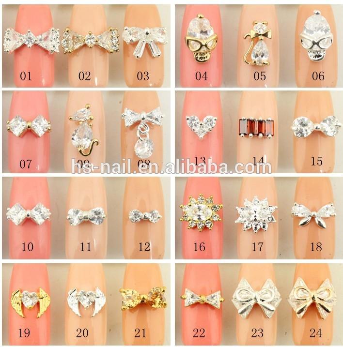 fashionable 3D metal bow nail art decoration