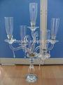 5 cristal decoración candlestick boda para las fuentes del partido BSCH041