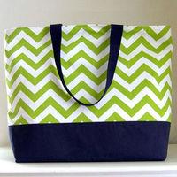 Best Seller fashion chevron tote bag/Canvas Beach Bag