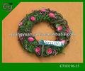 natural a granel de páscoa decorativas porta flor e madeira grinalda