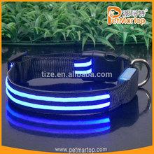 2014 new Super bright double-line LED Flashing collar TZ-PET5000G Glowing Led dog Collar