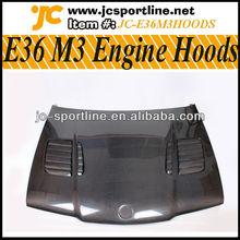 Real Carbon E36 M3 Hoods Engine Cover for BMW E36 M3