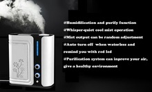 Negative ion air purifier with humidification