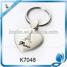 The Eiffel Tower metal key chain
