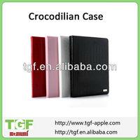 Factory hot sale luxury crocodilian leather cover for ipad mini